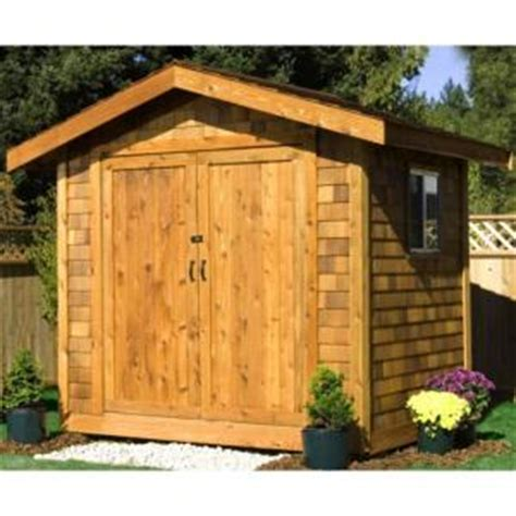Wood Shed Siding by Premium Cedar Shed 16 Ft X 10 Ft Wood Premium Shingle Siding Shed Kit Ys1016ps The Home Depot