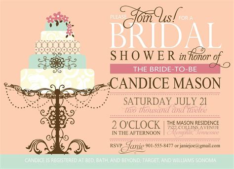 wedding shower invitations bridal shower invitations invitations template - Create Bridal Shower Invitations Free