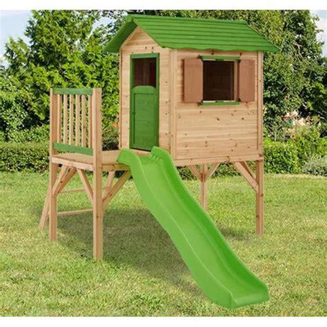 maison enfant 217 amca maisonnette en bois enfant mila sur pilotis achat