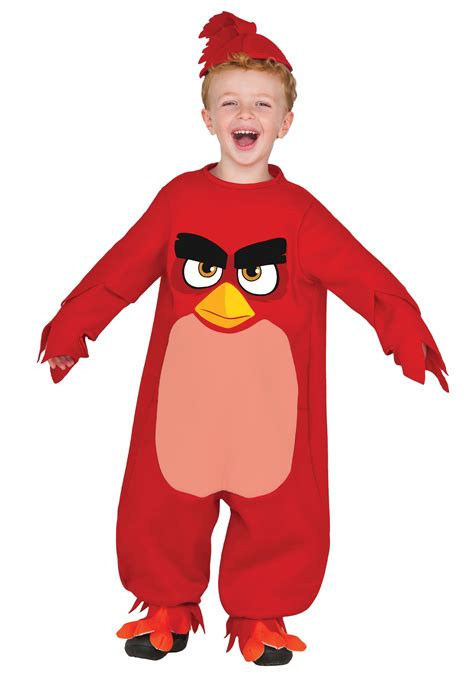 kids red red angry birds costume
