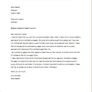 Reference Letter Sle Chevening Formal Official And Professional Letter Templates Part 4