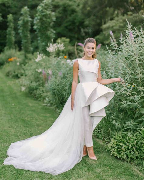 Wedding Dress Jumpsuit by Real Brides Who Nailed The Bridal Jumpsuit Look Martha