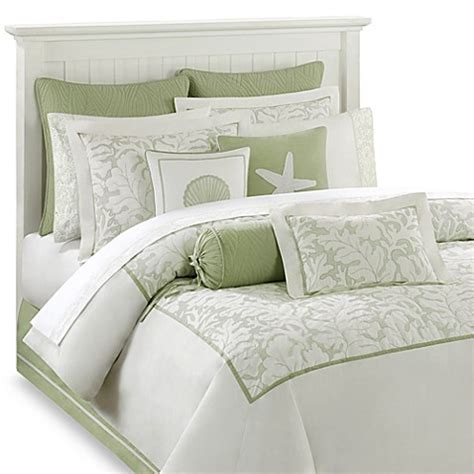 bed bath and beyond white comforter harbor house brisbane comforter set in white sage bed