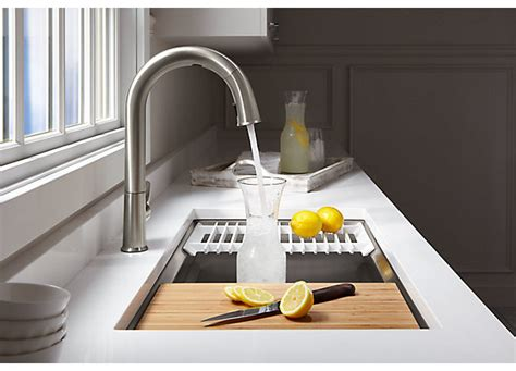 ces 2018 kohler s new sensate kitchen sink faucet and