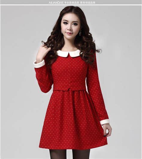 Dress Merah Import mini dress merah import polkadot model terbaru jual