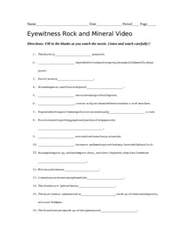 all worksheets 187 rocks and minerals worksheets pdf