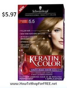 keratin hair color schwarzkopf keratin color anti age hair color kit 5 97 at