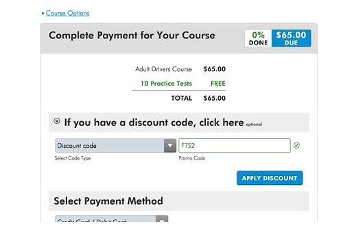 traffic school online coupon