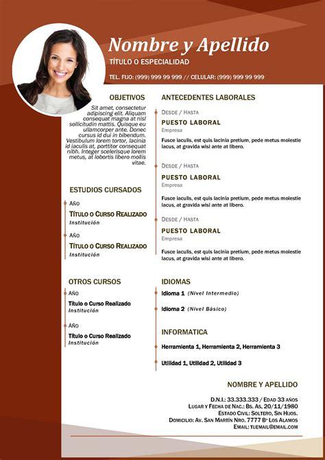 Modelos De Curriculum Vitae No Profesional Curriculum Vitae Profesional Varios Modelos A Elecci 243 N
