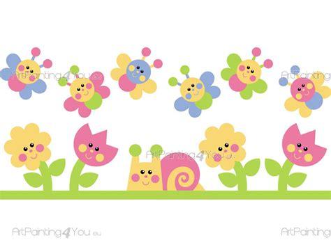 imagenes de flores animadas infantiles vinilos infantiles flores mariposas kit 1211es