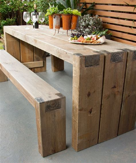 wooden table and bench 10 wooden diy projects to embellish your backyard for