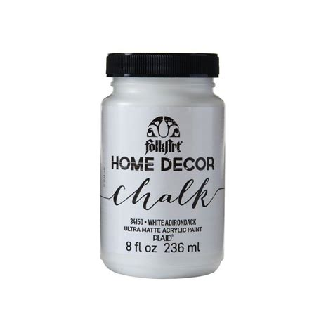 chalk paint wax home depot folkart home decor 8 oz white adirondack ultra matte
