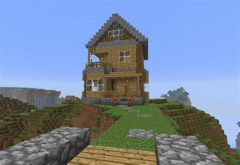 minecraft mountain house mountain house minecraft project
