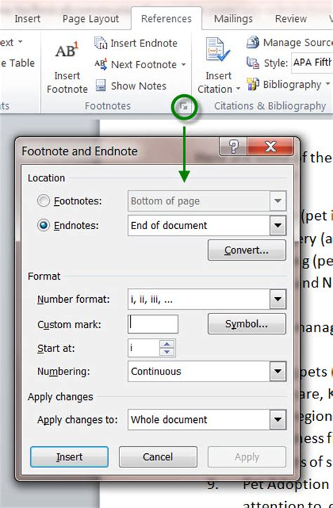 how to format a footnote in word 2010 how to insert and manage ms word 2010 footnotes and