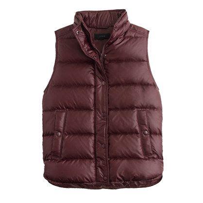 Kesia Vest shiny puffer vest