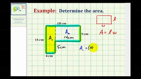 how to get area of a room ex find the area of an l shaped polygon involving whole numbers