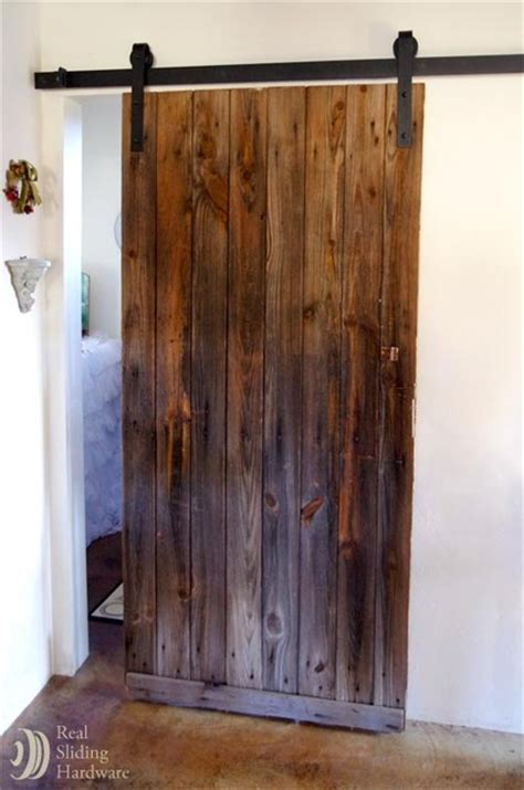 Rustic Sliding Barn Door On Bathroom Rustic Bathroom Sliding Barn Doors For Bathroom