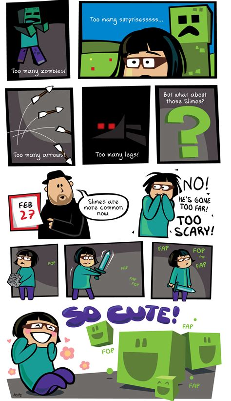 Comic Too Scary Minecraft