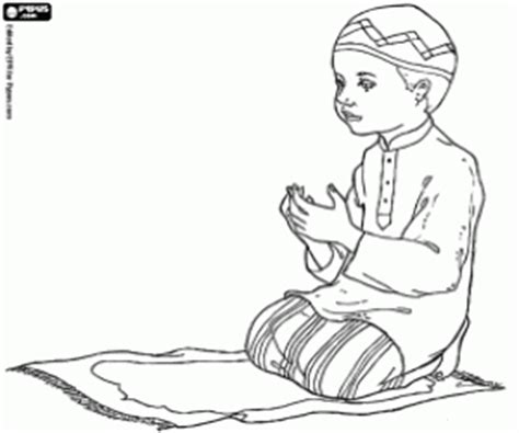 coloring page of little boy praying islam coloring pages printable games