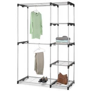 Hanging Clothes Storage closet organizer portable clothes hanger amp storage rack