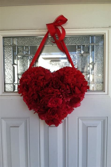 heart melting handmade valentines wreaths
