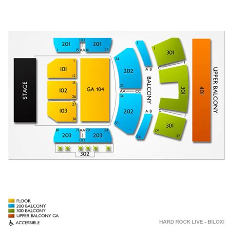 rock live seating map rock live biloxi seating chart seats