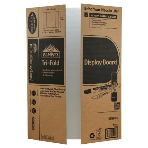 Elmers Trifold Corrugate Project Display Board 28x40 Target Tri Fold Presentation Board Templates