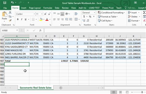 Total Table by Excel Tables Spreadsheets Made Easy