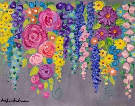 pin  megan mcchrystal  flower paintings