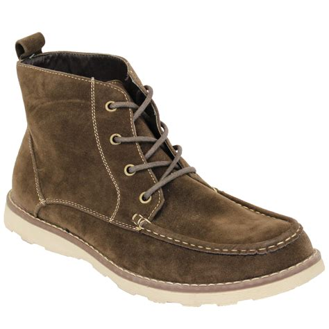 mens boots mens boots high ankle top suede look chukka desert shoes
