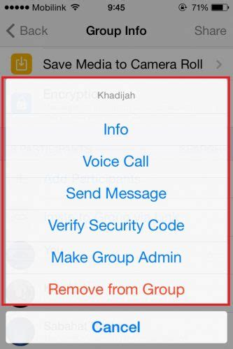section 8 contact info find contact information of group participant on whatsapp