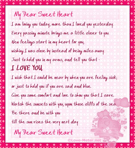 Letter To My Sweetheart 20 Letters For