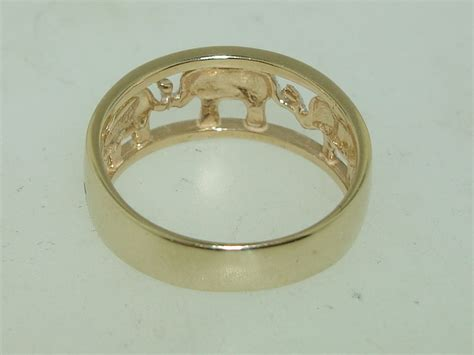 beautiful milor italy 14k white yellow gold elephant