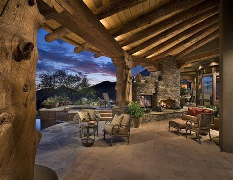 log home lighting design outdoor living