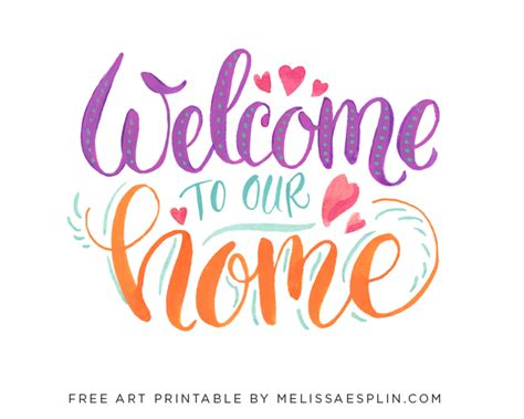 quot welcome to our home quot free printable one thing by