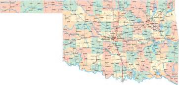 Oklahoma State Map With Cities by Printable Map Of Map Of Cities And Counties In Oklahoma