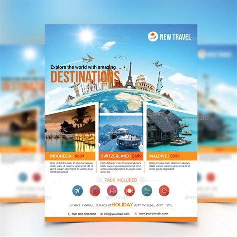 tour flyer template travel tour flyer template by aam360 graphicriver