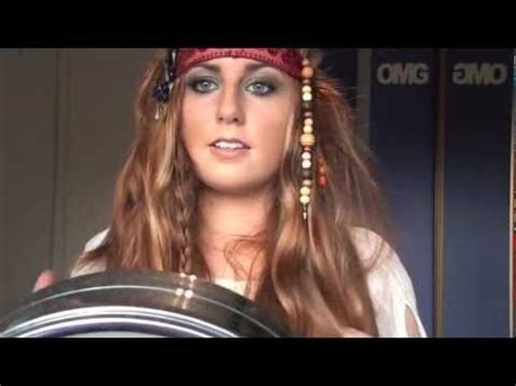 halloween hairstyles for pirates pirates of the caribbean 4 makeup hair and costume youtube