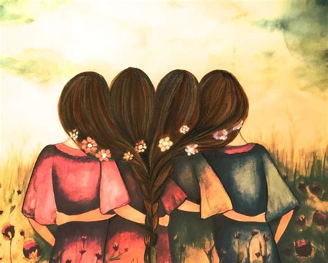 art friendship picture more detailed picture about best the four sisters best friends brisdemaid present art print