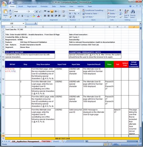 Test Template In Excel by Test Template Cyberuse