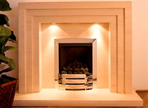Fireplace Step by 3 Step Limestone Fireplace With Lights Fireplace Suite