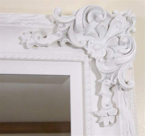white shabby chic wall mirror large shabby chic antique style leaner wall