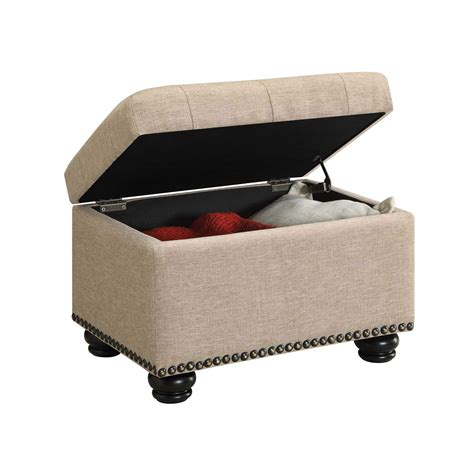 tan storage ottoman designs4comfort tan storage ottoman convenience concepts