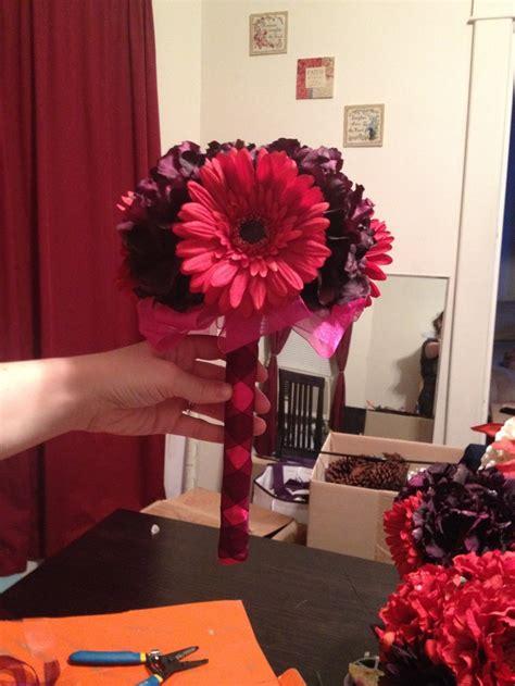 diy bridesmaids bouquet flowers from hobby lobby wedding ideas and decor diy