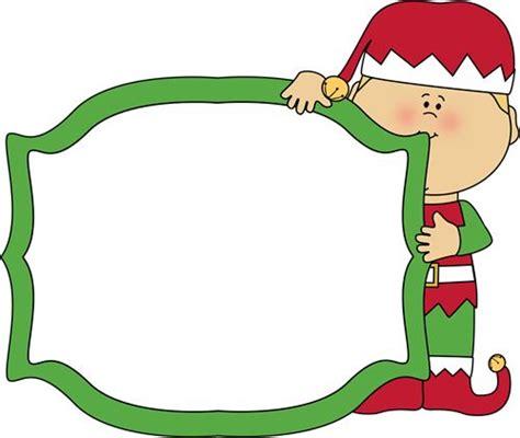 printable elf borders christmas elf holding a blank sign christmas clip art