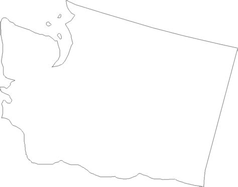 Blank Outline Map Of Washington State by Washington State Outline
