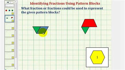 youtube pattern blocks identify fractions using pattern blocks youtube