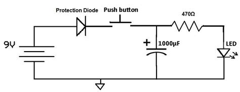 capacitor across led simple led circuit to confirm when a capacitor is charged general chat discussion uk