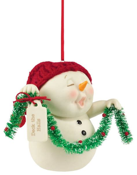 department 56 snowpinions deck the halls ornament