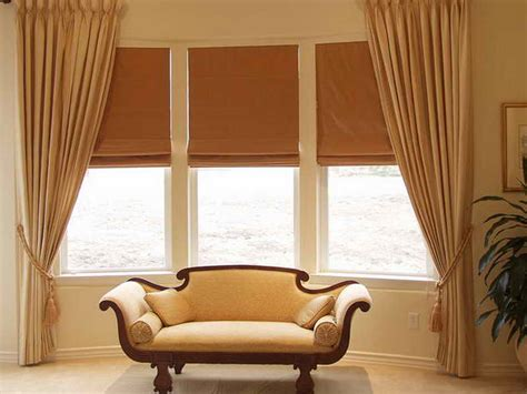 Curtain Ideas For Bay Window Decorating Bay Window Curtain Ideas Home Interior Design